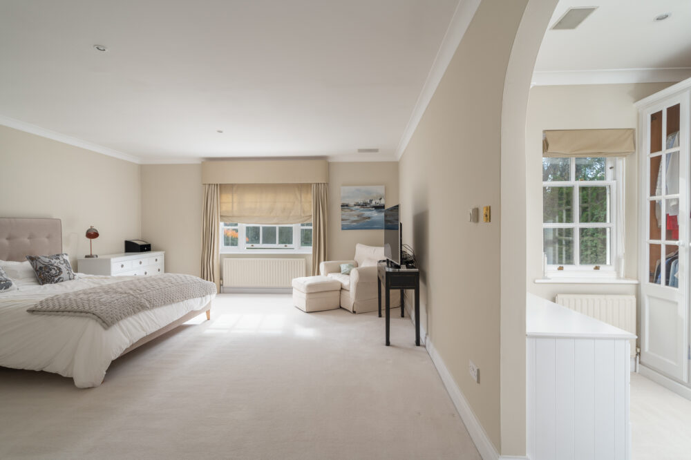 Beaconsfield prime property master bedroom with walk in adjacent dressing room