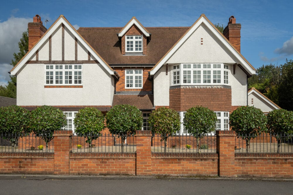 Exterior shot of prime property in Beaconsfield, Buckinghamshire