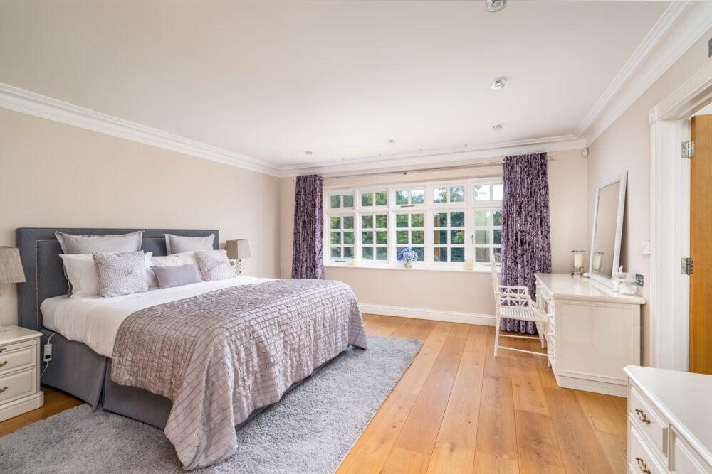 Luxurious bedroom in prime property